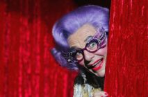 Barry Humphries as Dame Edna Everage.