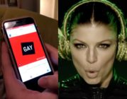 A screenshot of Ben Shepherd's coming out video next to a screenshot of The Black Eyed Peas hit song Boom Boom Pow
