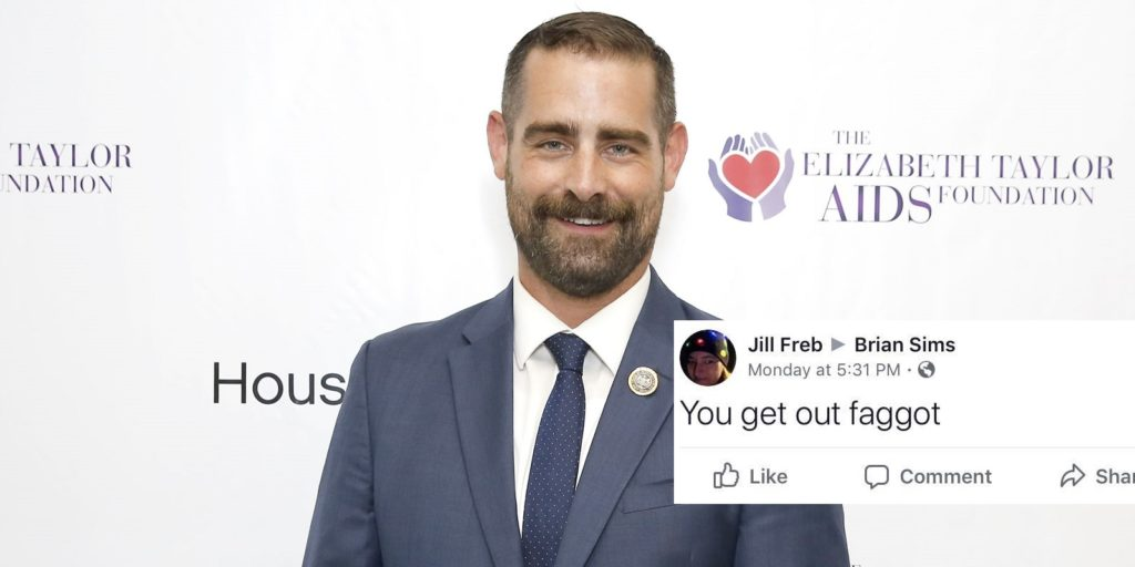 Pennsylvania state representative Brian Sims shared an abusive Facebook message he received