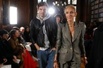 Canadian singer Celine Dion and Spanish dancer Pepe Munoz arrive for the 2019 Spring-Summer Haute Couture collection fashion show by RVDK Ronald van der Kemp in Paris, on January 23, 2019.