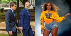 Pete Buttigieg, Chasten Buttigieg, and Beyoncé.