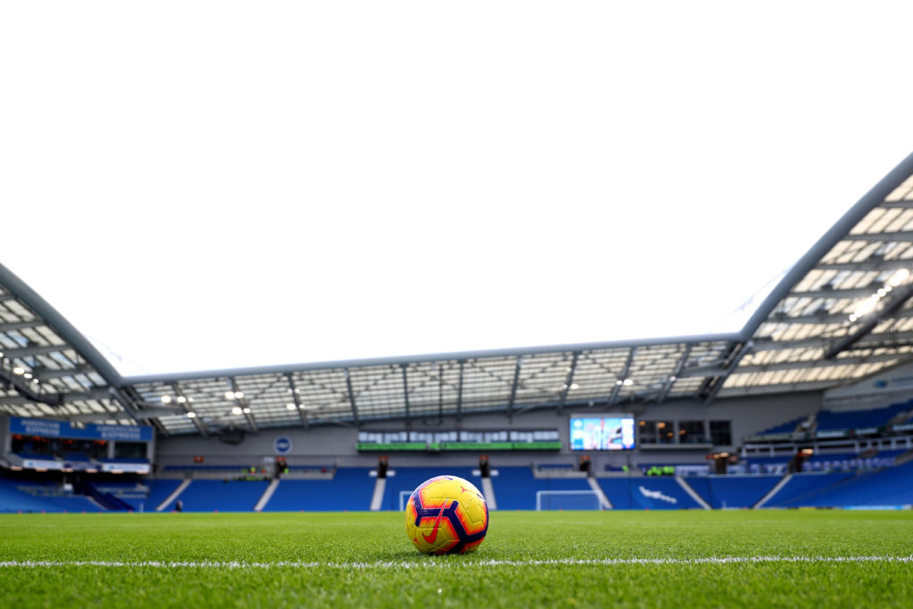 Brighton's Amex stadium ahead of the Premier League match between Brighton & Hove Albion and Chelsea FC