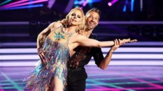 Courtney Act with dance partner Joshua Keefe on Dancing with the Stars