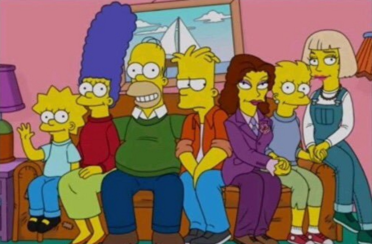An episode of The Simpsons in 2011 showed Lisa Simpson with two female partners in a future timeline.