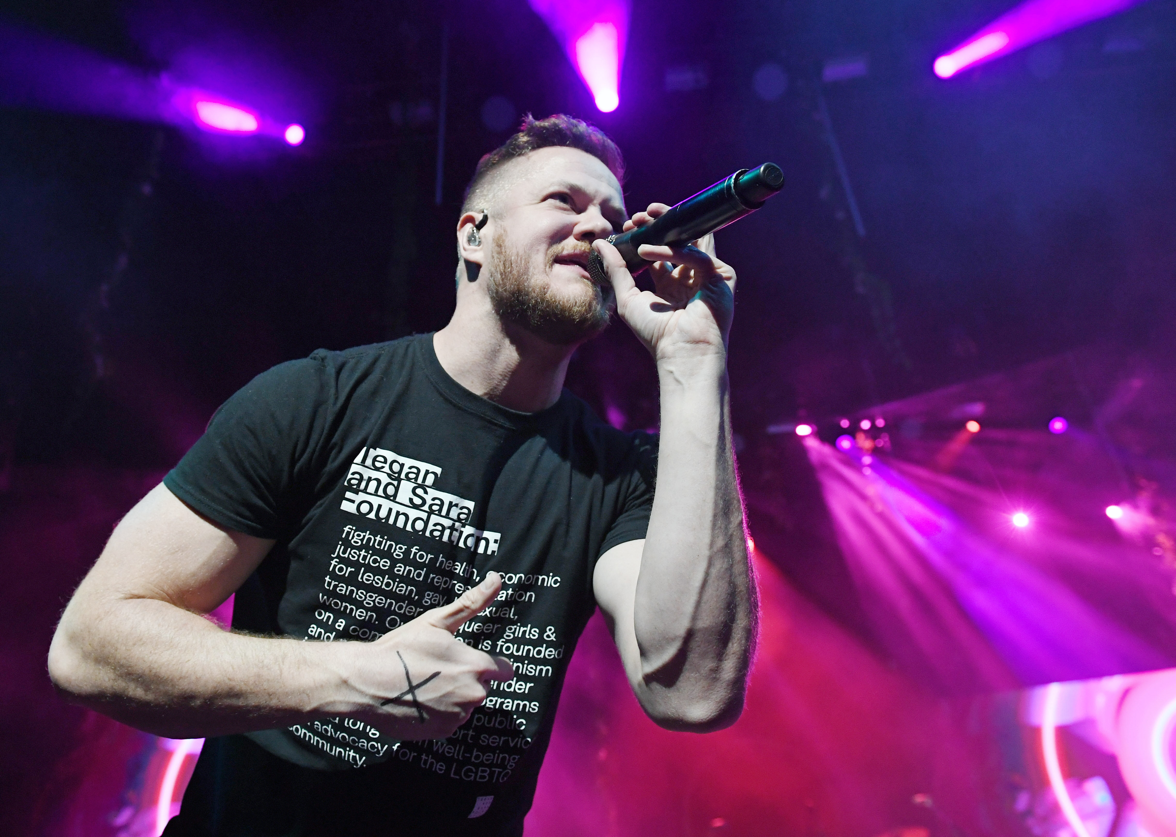 Frontman Dan Reynolds of Imagine Dragons performs during the Origins Experience pop-up concert at The Chelsea at The Cosmopolitan of Las Vegas on November 7, 2018 in Las Vegas, Nevada.