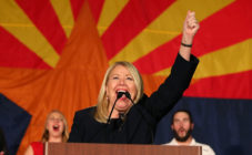 Republican Debbie Lesko celebrates her victory during an election night event for Arizona GOP candidates on November 6, 2018 in Scottsdale, Arizona.