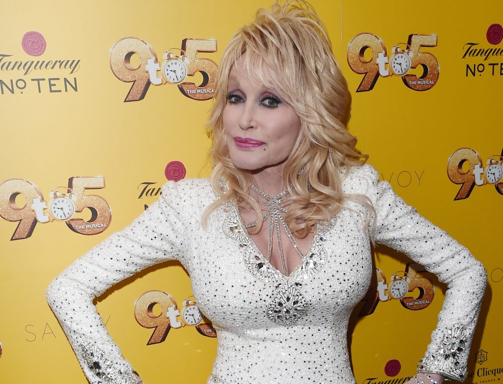 Dolly Parton attends the gala evening of Dolly Parton's '9 to 5' The Musical at The Savoy Theatre on February 17, 2019 in London, England.