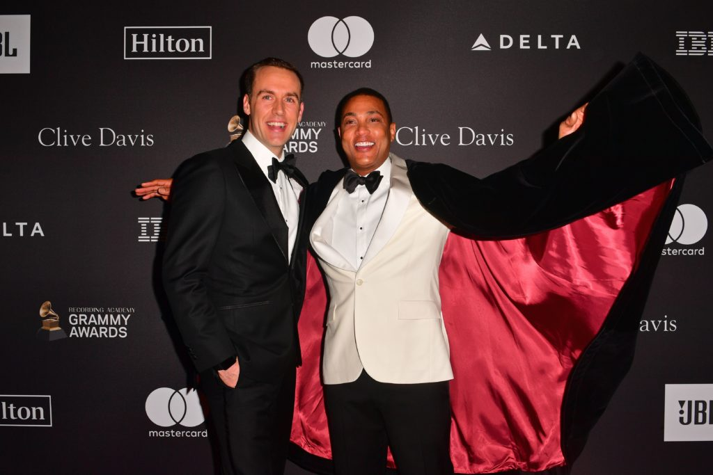 Tim Malone and US journalist Don Lemon arrive for the traditional Clive Davis party on the eve of the 61th Annual Grammy Awards at the Beverly Hilton hotel in Beverly Hills, California on February 9, 2019.