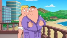 2013 Family Guy episode No Country Club for Old Men featured a gay sequence