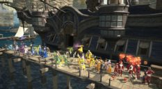 A pride parade inside Final Fantasy XIV