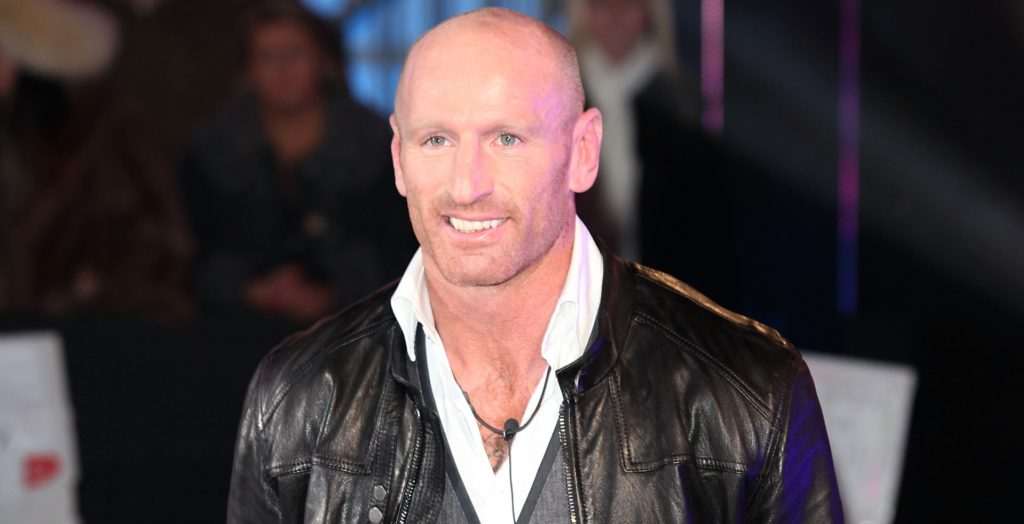 Rugby player Gareth Thomas, who opted for restoratvie justice agyer enters the Celebrity Big Brother House