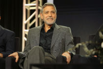 George Clooney of 'Catch 22' speaks onstage during the Hulu Panel during the Winter TCA 2019 on February 11, 2019 in Pasadena, California.