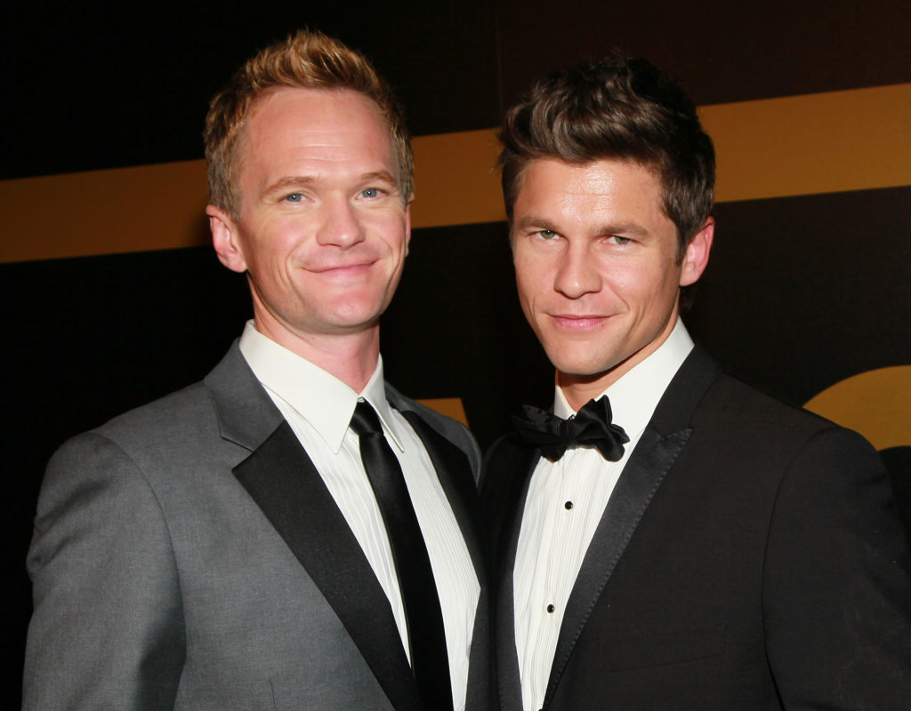 Actors Neil Patrick Harris (L) and David Burtka