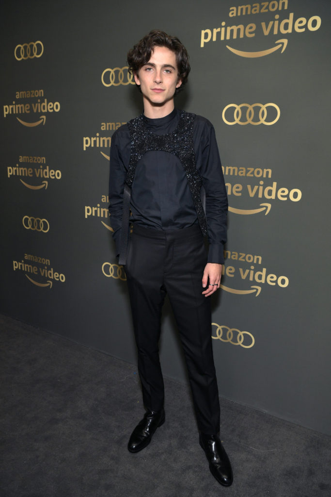 Timothee Chalamet at the Golden Globes