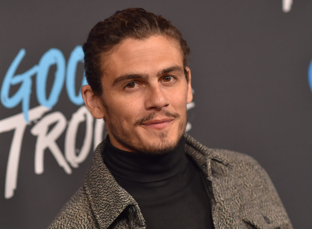 """Actor Tommy Martinez arrives for the """"Good Trouble"""" premiere at The Palace Theatre in Downtown Los Angeles on January 8, 2019."""