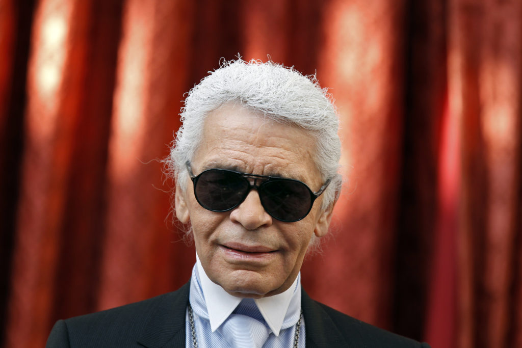 German fashion designer Karl Lagerfeld who was with Jacques de Bascher for 18 years.