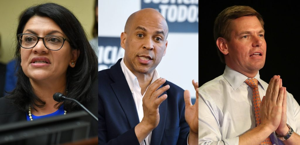 US Congresspeople Rashida Tlaib, Cory Booker and Eric Swallwell were targeted