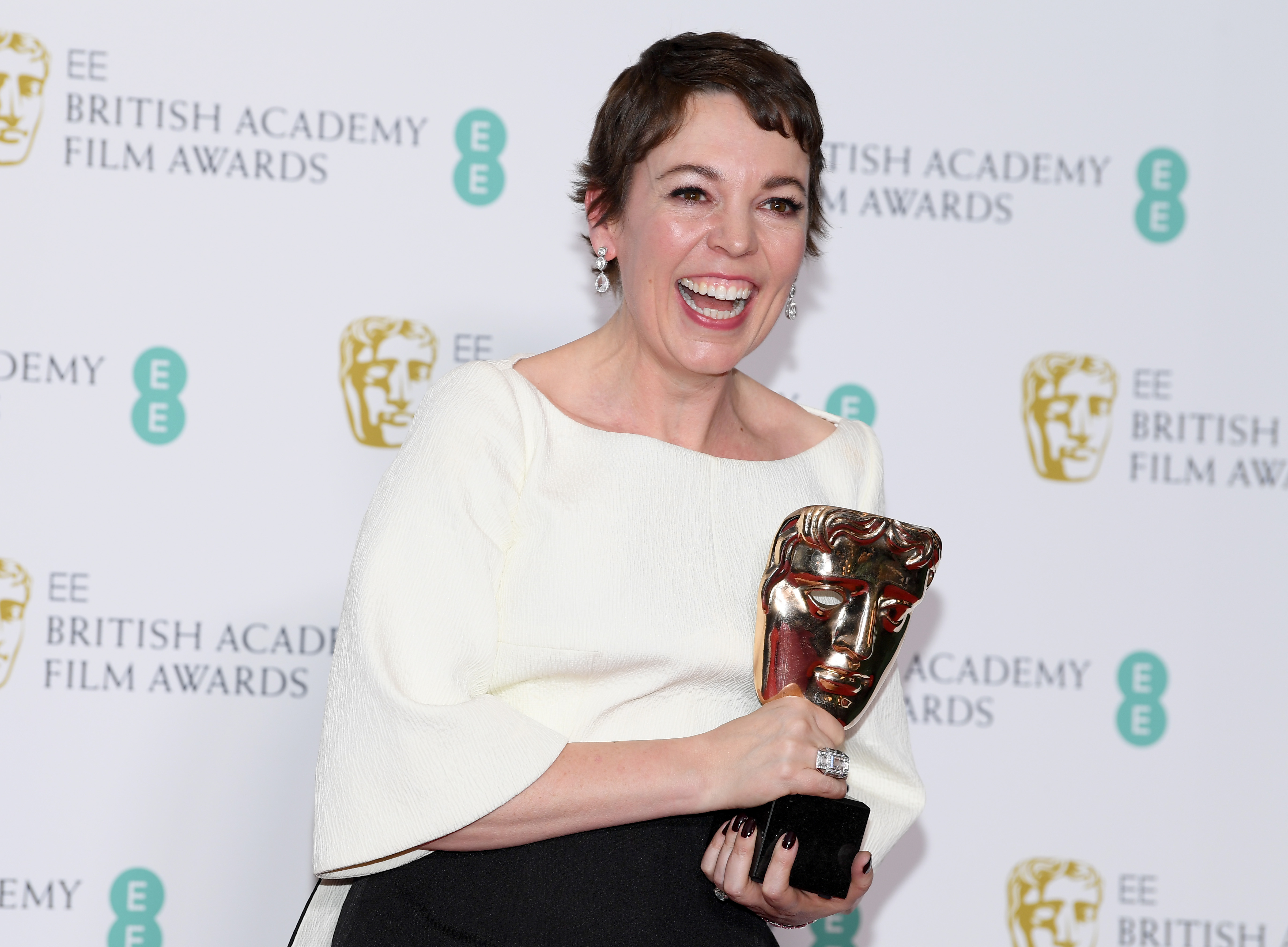 Olivia Colman wins Leading Actress award for The Favourite at the Baftas 2019.