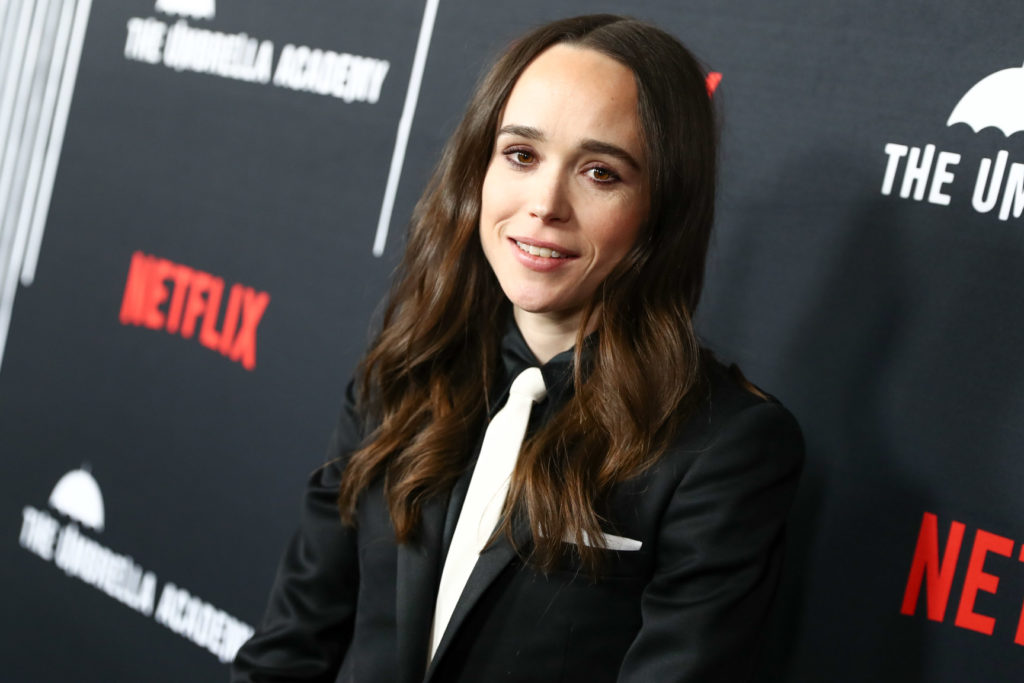 "Ellen Page attends the premiere of Netflix's ""The Umbrella Academy."""