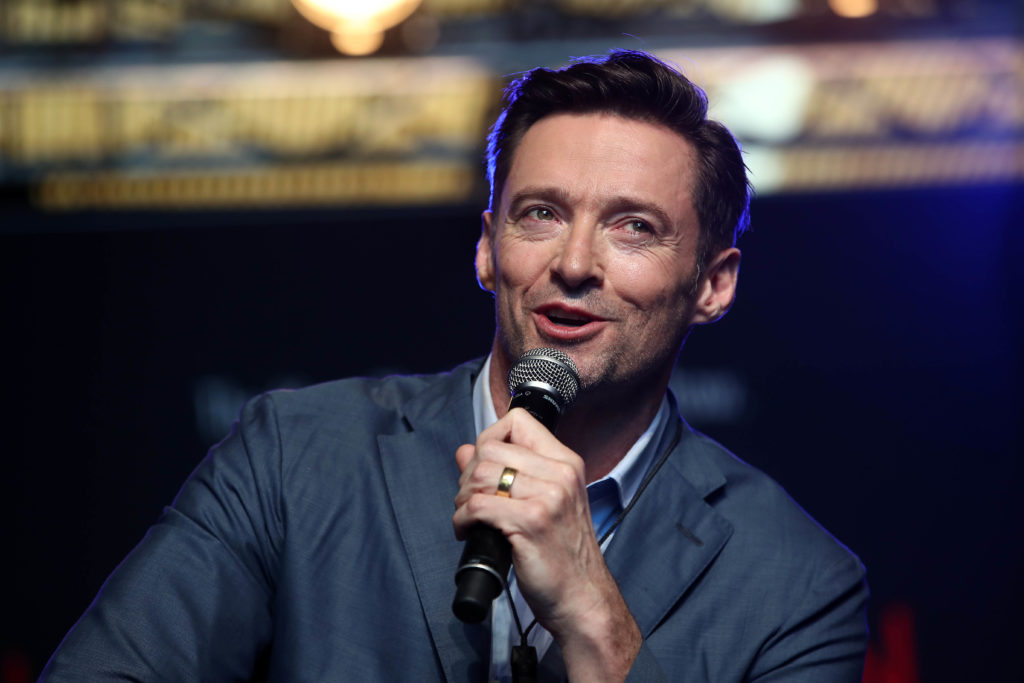Actor Hugh Jackman speaks to media at AUT's South Campus on February 27, 2019.