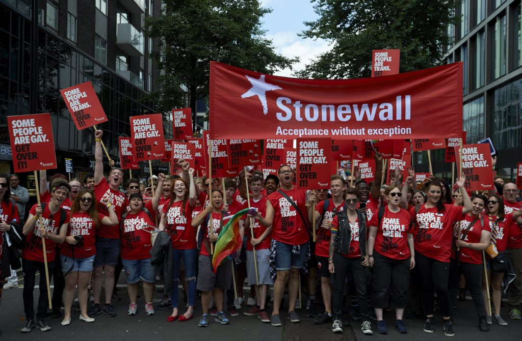 Stonewall members have been backing trans rights as part of LGBT rights.
