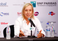 "Photo of Martina Navratilova, who wrote a column for the Sunday Times Athelte Ally condemned as ""transphobic."""