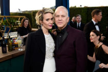 Actress Sarah Paulson (L) and producer Ryan Murphy attend The 22nd Annual Critics' Choice Awards at Barker Hangar on December 11, 2016 in Santa Monica, California.