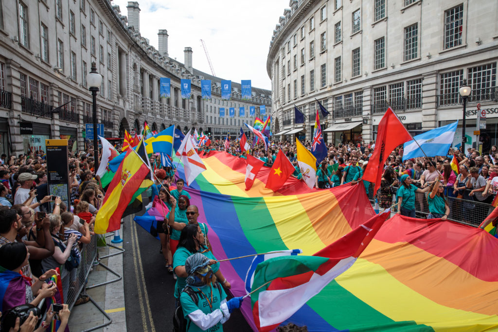 London Pride on Regent's Street, 2017