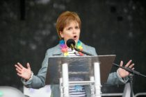 Nicola Sturgeon speaks at Pride in Glasgow 2018.