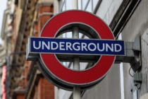 The London Underground logo. Three men were caught having gay sex on the London Underground
