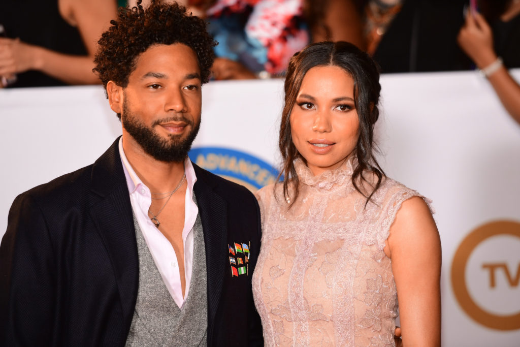 Jussie Smollett (L) and Jurnee Smollett attend the 49th NAACP Image Awards at Pasadena Civic Auditorium on January 15, 2018 in Pasadena, California.