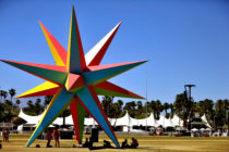Art installation seen during the 2018 Coachella Valley Music And Arts Festival at the Empire Polo Field on April 22, 2018 in Indio, California.
