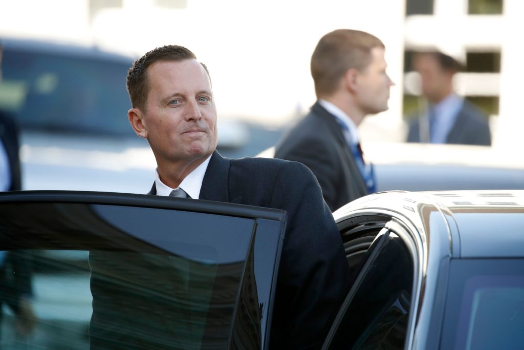 US Ambassador Richard Grenell gets in his car after an accreditation ceremony for new Ambassadors in Berlin, Germany, on May 08, 2018.