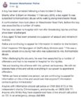 """Greater Manchester Police's statement over the """"homophobic"""" attack"""