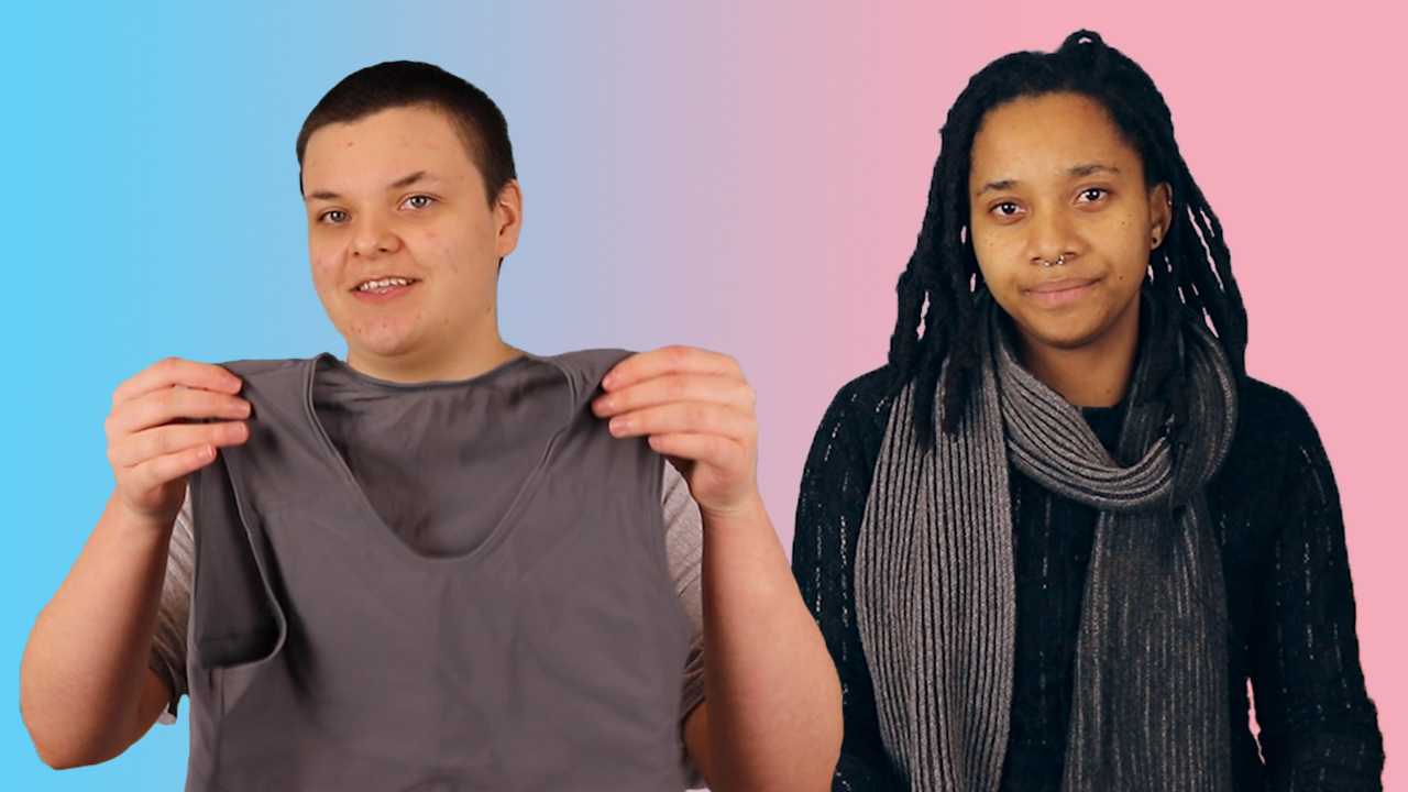 Trans guy Ray and Nneka, who is non-binary, share their experiences of wearing a binder (PinkNews)