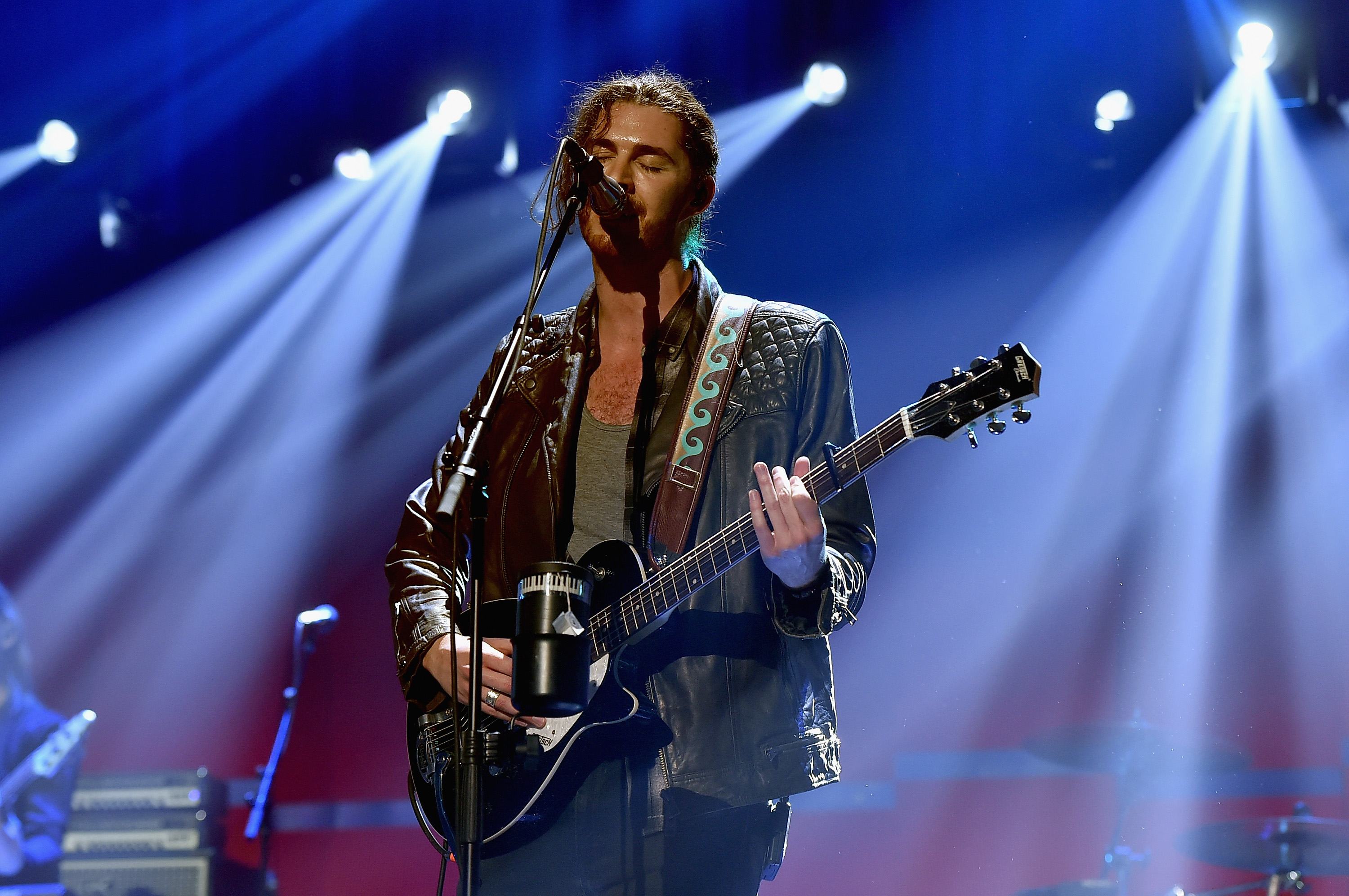 Hozier performs onstage at the 2015 iHeartRadio Music Festival at MGM Grand Garden Arena on September 19, 2015 in Las Vegas, Nevada.
