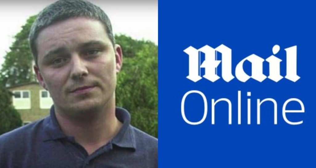A picture of Ian Huntley and the MailOnline logo