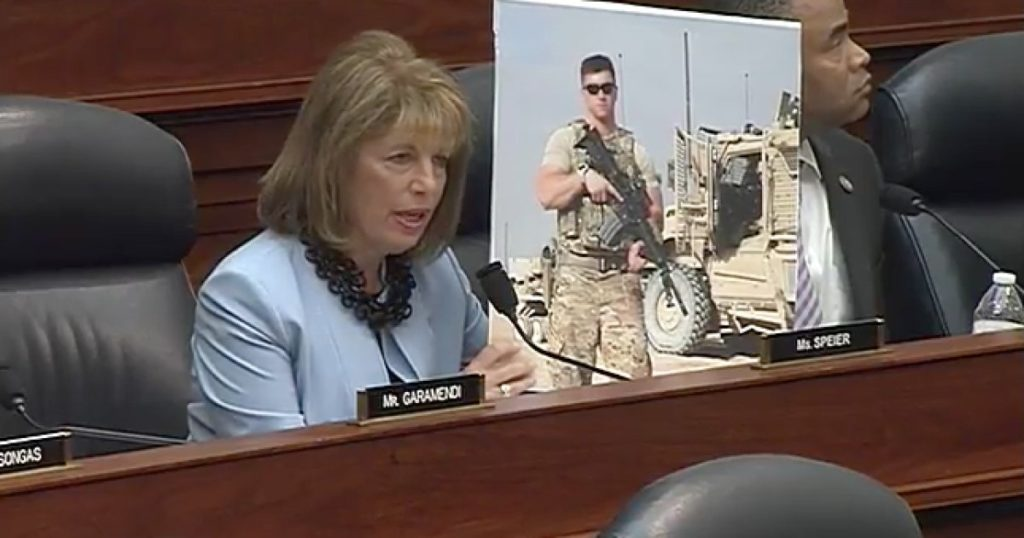 California Representative Jackie Speier opposed the ban on transgender service members.