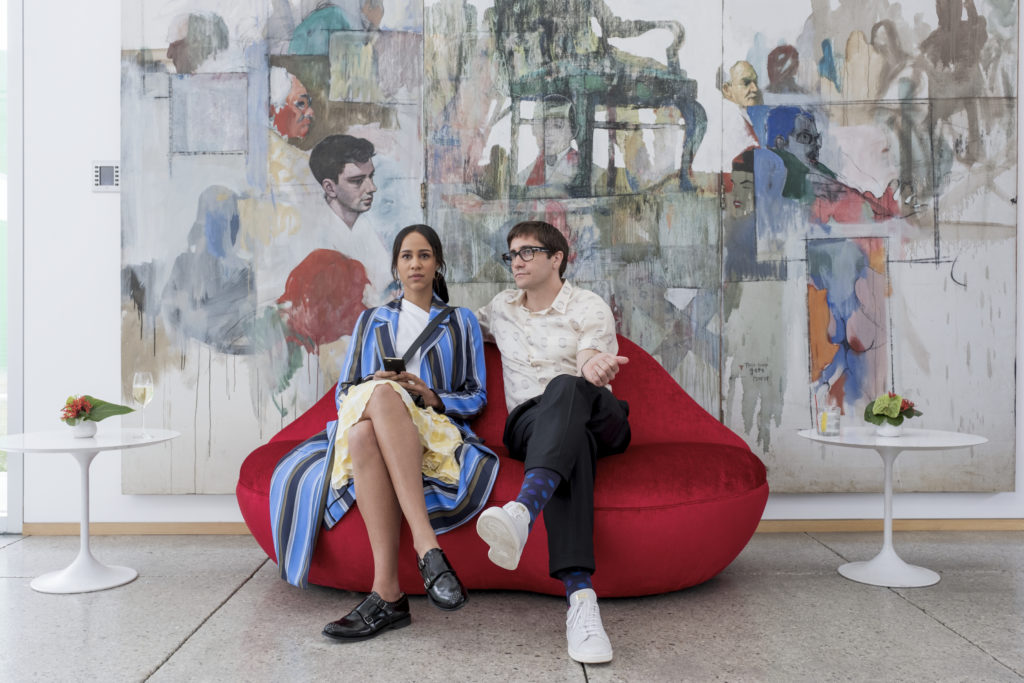 Zawe Ashton and Jake Gyllenhaal in a publicity shot for Velvet Buzzsaw