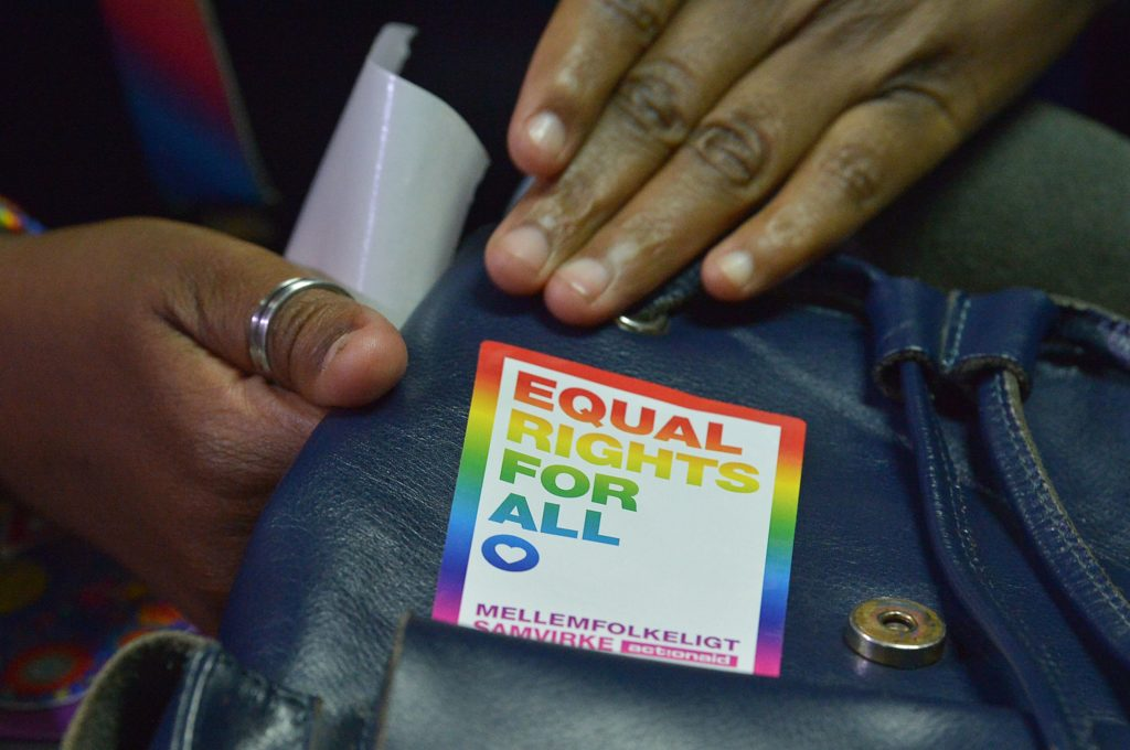 LGBT activists attend a court hearing in the Milimani High Court in Nairobi on February 20, 2019