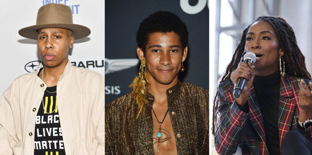 Lena Waithe, Keiynan Lonsdale and Angelica Ross