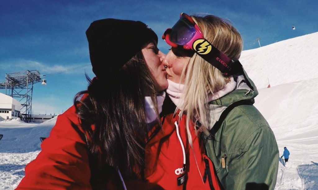 Abbie Eaton, test driver for The Grand Tour, posted a photo of her kissing her girlfriend.
