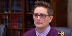 Former teacher Dina Persico, who is suing her school district saying she was harassed because she is a lesbian