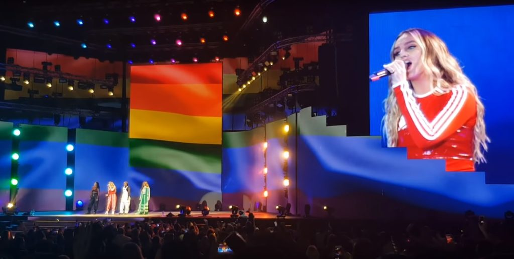 "Little Mix performed ""Secret Love Song Pt II"" under the rainbow flag"
