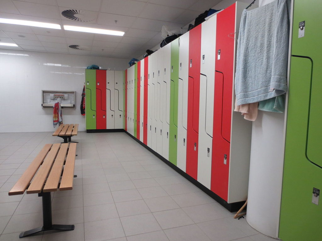 Changing rooms representing a changing room where a trans teenager was attacked
