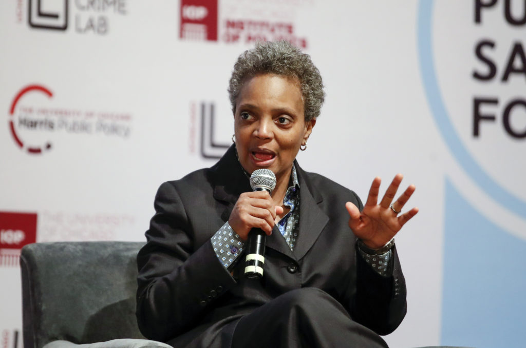 Chicago mayoral candidate Lori Lightfoot, who is the subject of a series of homophobic leaflets