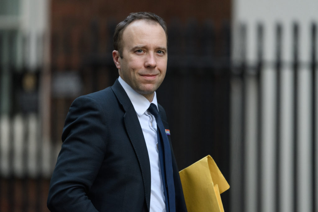 "health secretary Matt Hancock, who pledged to ensure there is a ""specific focus"" on LGBT+ mental health as the UK marks Time to Talk Day"