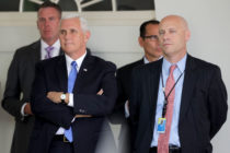 US Vice President Mike Pence and senior aide Marc Short