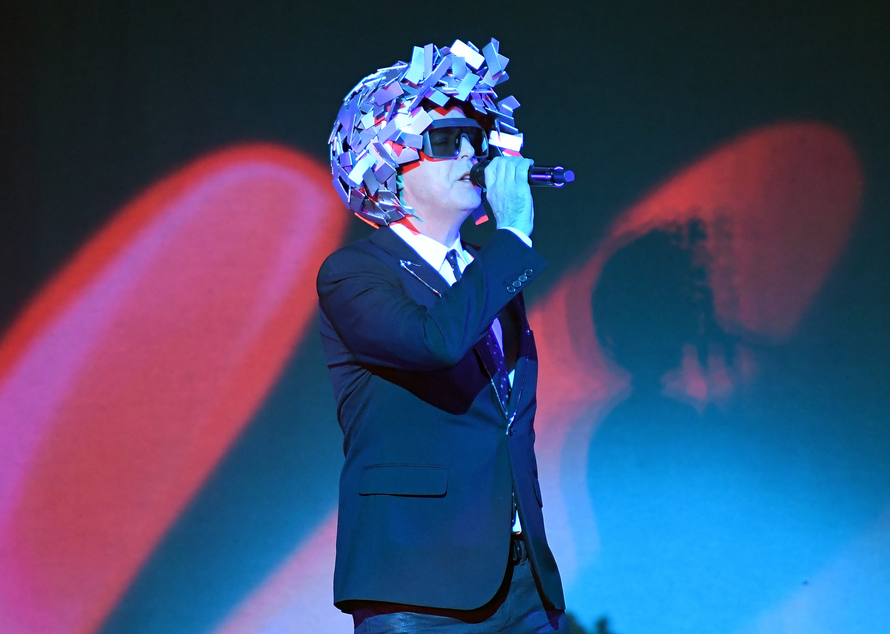 Musician Neil Tennant of Pet Shop Boys performs onstage at The Theater at Madison Square Garden on November 12, 2016 in New York City.