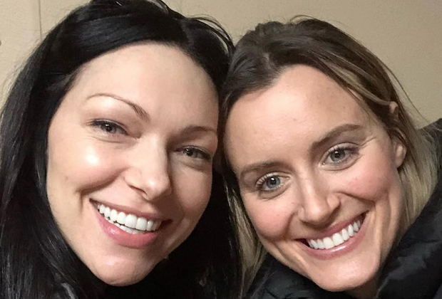 Orange is the New Black's Piper and Alex pose for a selfie.